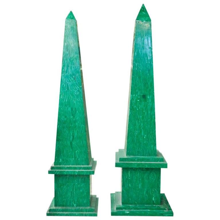 Par de Obeliscos de Malaquita, de los Años 90