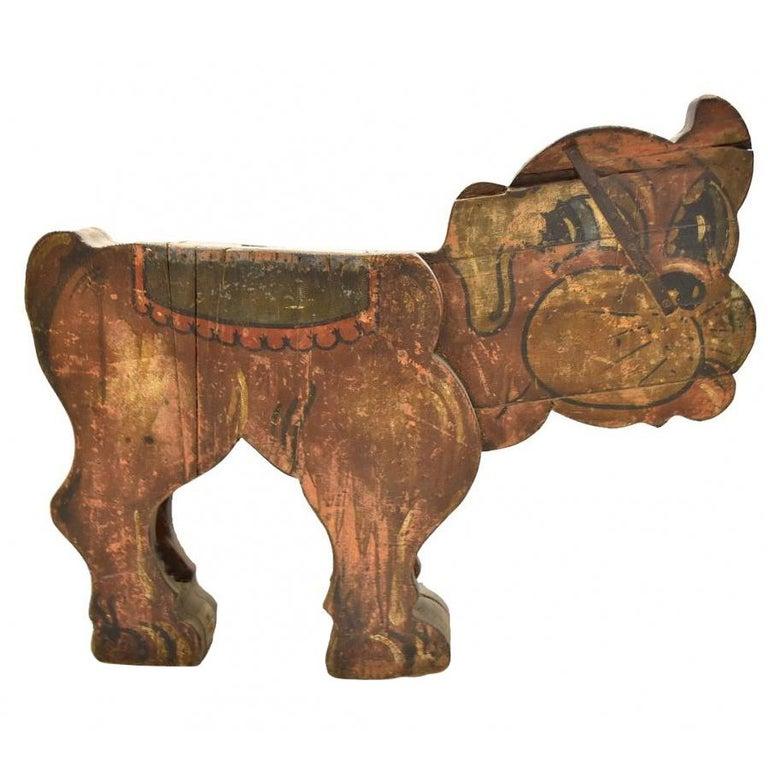 Perro de Madera de un Carrusel de la Feria Española de 1850