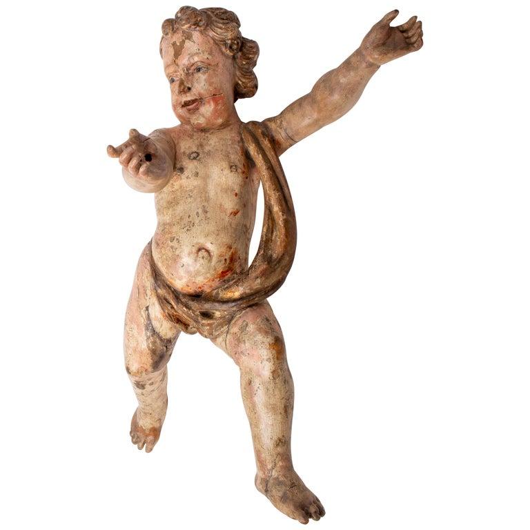 Ángel Pintado a Mano, del Siglo XVIII