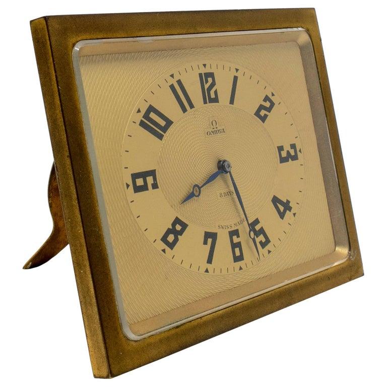 Reloj de Mesa Cuadrado Omega, de los Años 50
