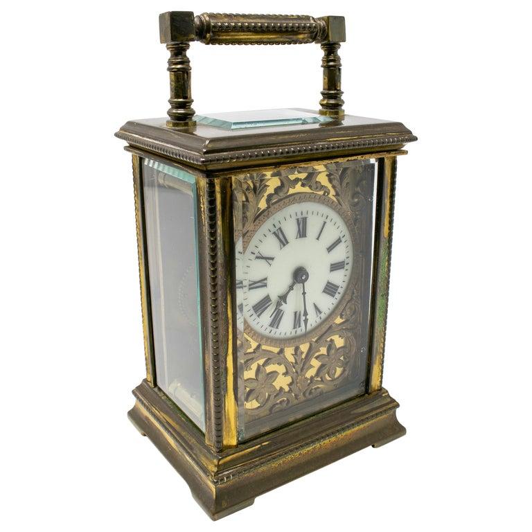 Reloj de Bronce para Carros de Caballos de Fabricación Suiza, del Siglo XIX