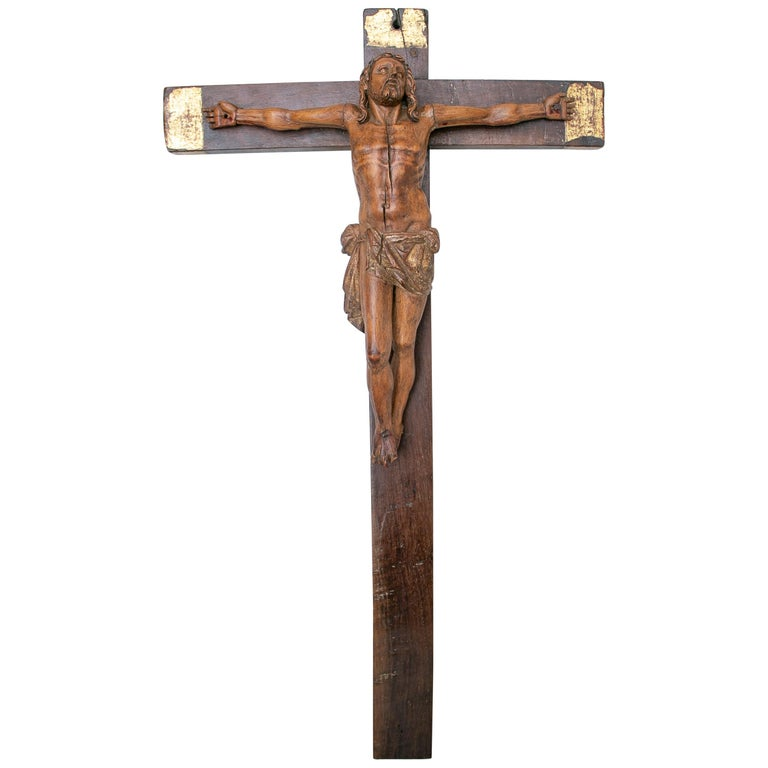 Cristo en La Cruz en Madera de Boj, España, Siglo XVII