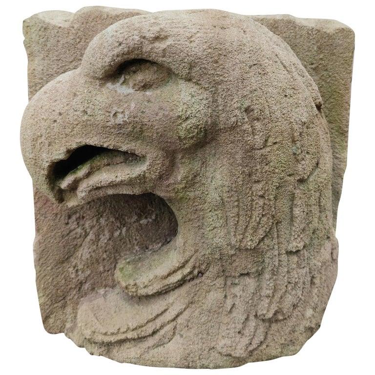 Bajo Relieve de Piedra de Cabeza de Águila, España, del Siglo XVII