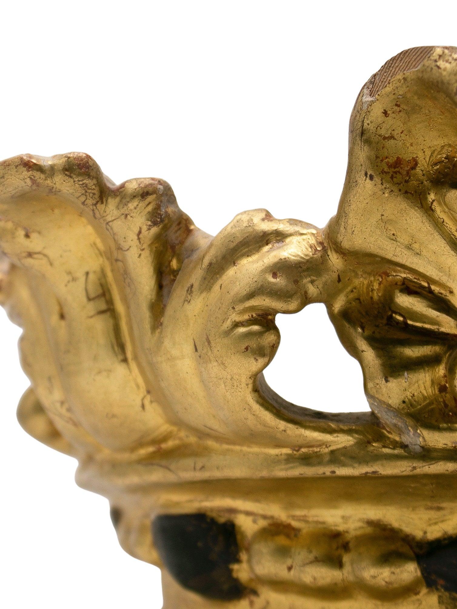 Corona Española de Madera Dorada del Siglo XIX